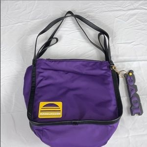 MARC JACOBS Sport Nylon and Leather Hobo Tote Bag